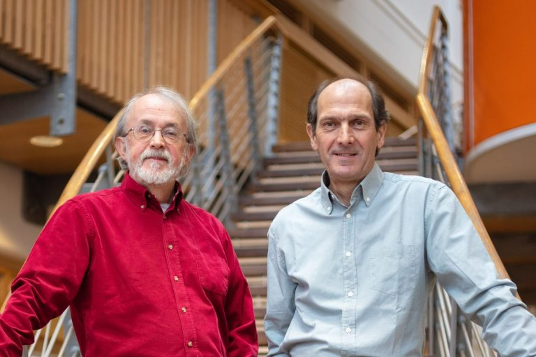 Co founders Peter Lord (l) and David Sproxton of Aardman